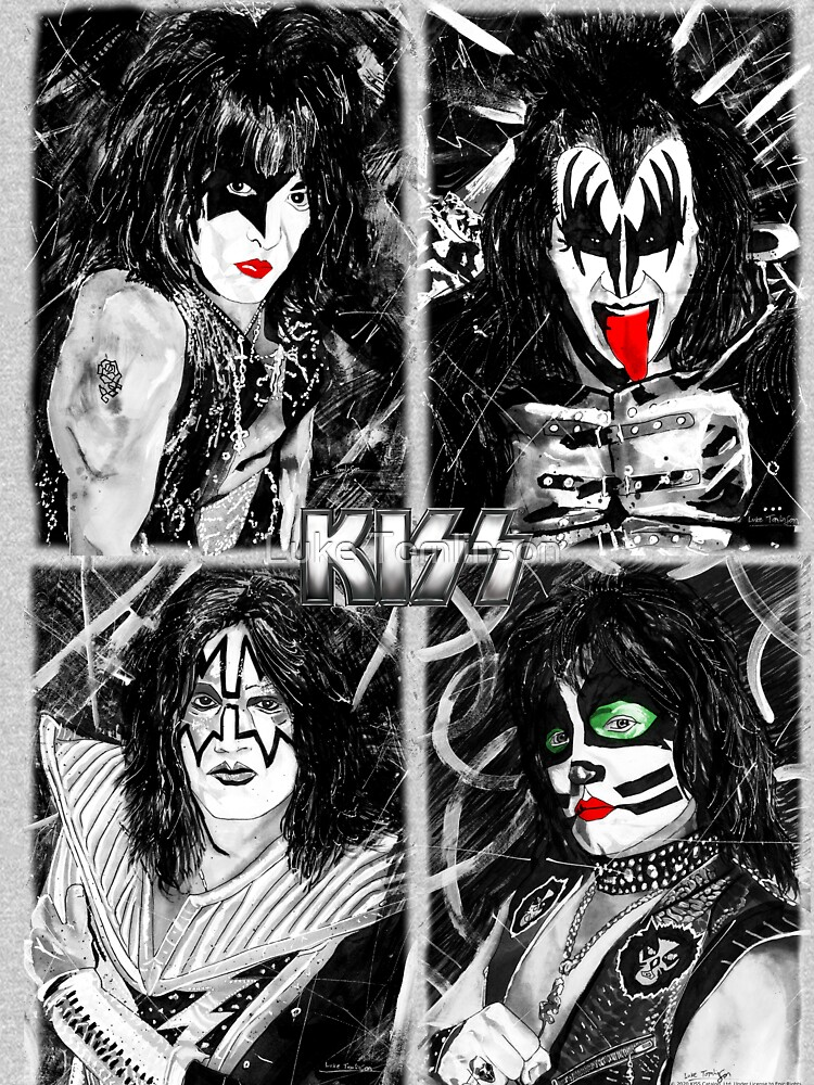KISS® - Ink Original (Colour Splash with Logo) by lucafon18