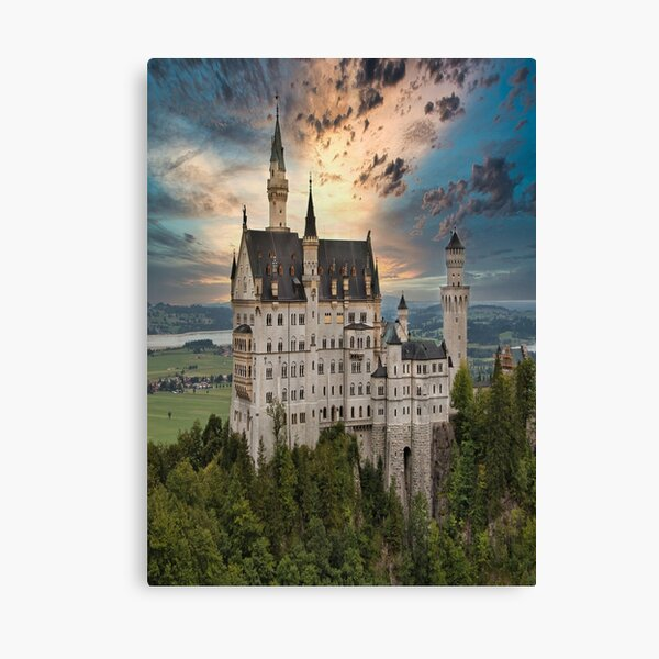 Castle Kristin in Bavaria Germany Canvas Print