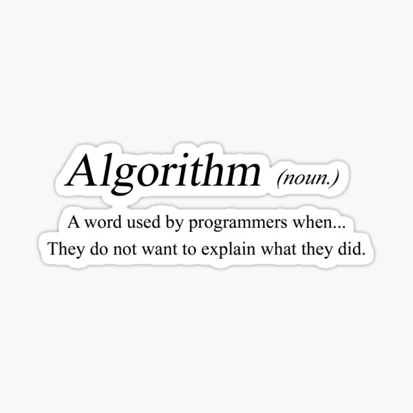 Algorithm - meaning Sticker