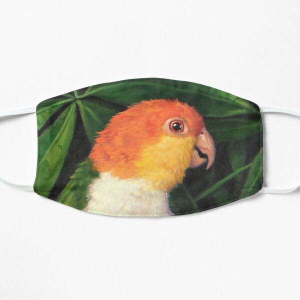 White Bellied Caique Flat Mask