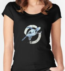 Blue Turtle in a Periscope Women's Fitted Scoop T-Shirt