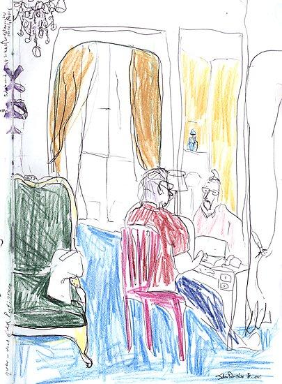 Robert Writing, Paris by John Douglas