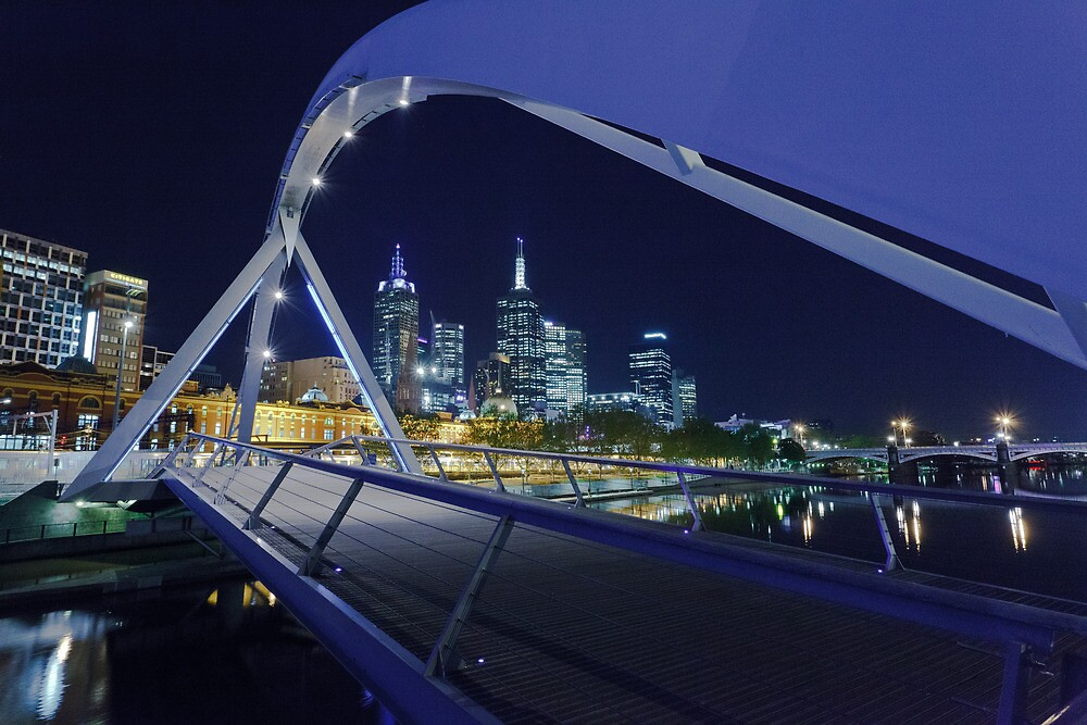 Yarra Pedestrian Bridge  by Shari Mattox-Sherriff