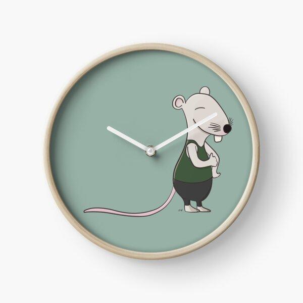 Friendly Cartoon Rat Clock