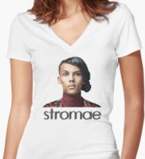 Stromae  Women's Fitted V-Neck T-Shirt
