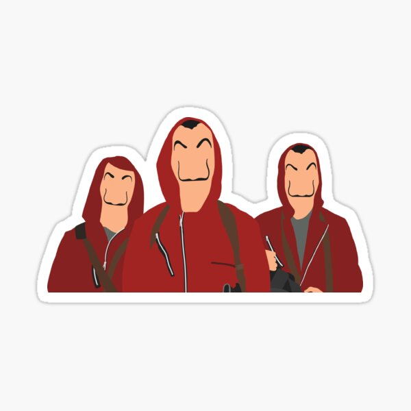 Bank Heist Outfits Sticker