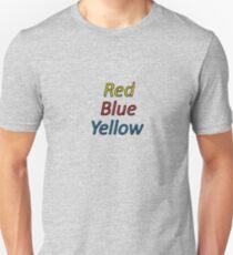 Red Blue Yellow Unisex T-Shirt