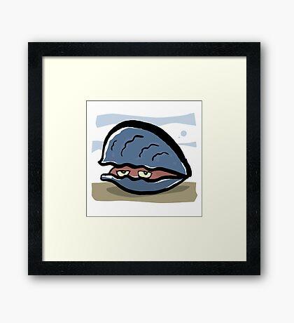 clam Framed Print