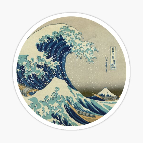 Great Wave off Kanagawa circle Sticker