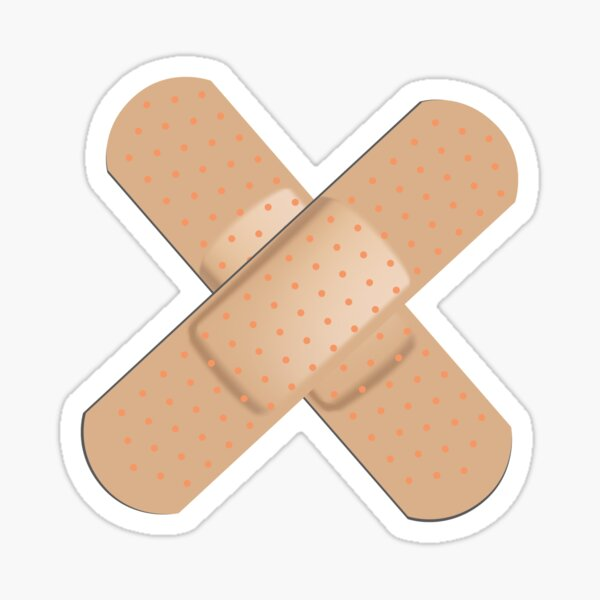 Double Band aid Cool And Funny Gift Sticker