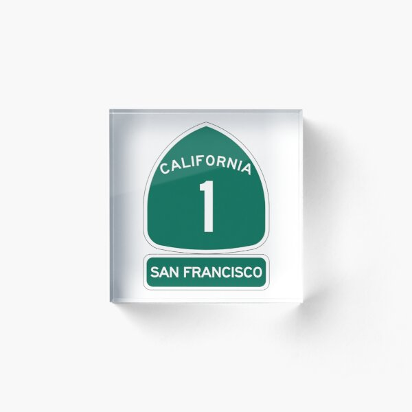 PCH - CA Highway 1 - San Francisco Acrylic Block