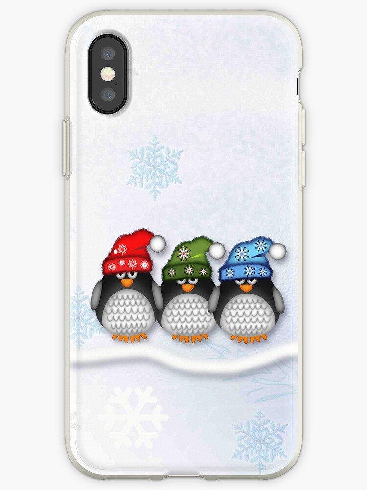 Cute penguins and Snowflakes case by walstraasart