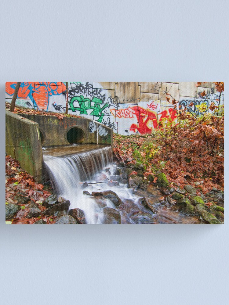 Alternate view of Tattooed Waterfall Canvas Print