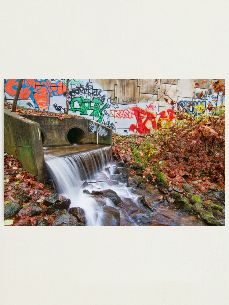 Alternate view of Tattooed Waterfall Photographic Print