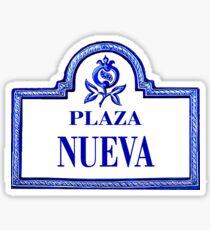 Plaza Nueva, Granada Street Sign, Spain Sticker