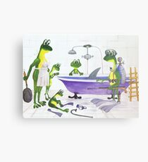 All about Frogs 7, Shark hunters Metal Print