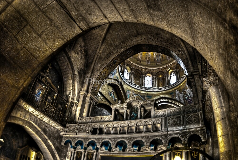 Israel, Jerusalem Old City, Interior of the Church of the Holy Sepulchre by PhotoStock-Isra