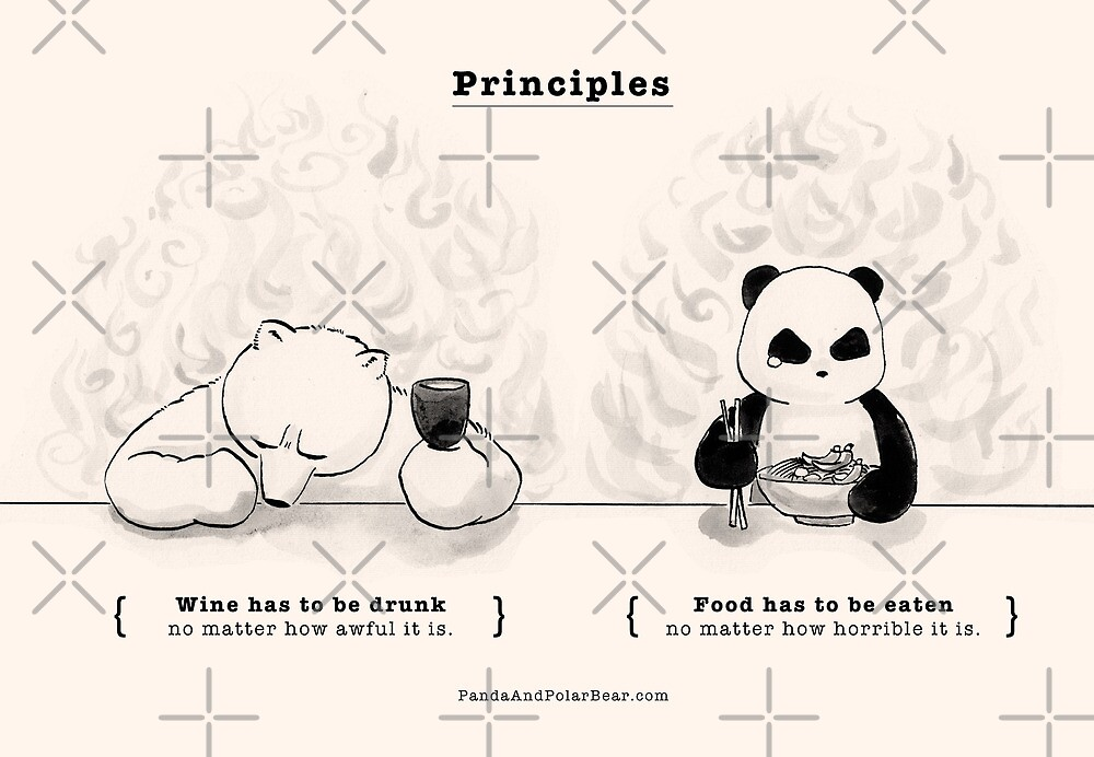 Quot Principles Quot By Panda And Polar Bear Redbubble