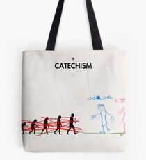 99 Steps of Progress - Catechism Tote Bag