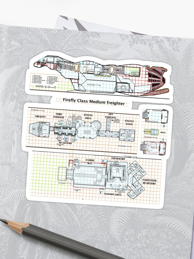 serenity firefly floorplan schematics stickers
