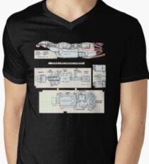 Serenity Firefly floorplan schematics Men's V-Neck T-Shirt