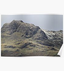 Harrison Stickle into Pavey Ark. Late November Dusting Poster
