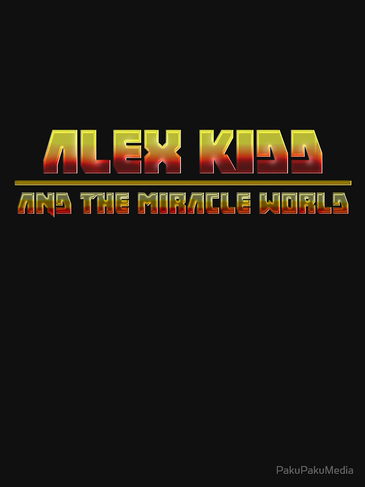 Alex Kidd and the Miracle World - Band logo Tshirt by PakuPakuMedia