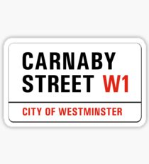 Carnaby Street, London Street Sign, UK Sticker
