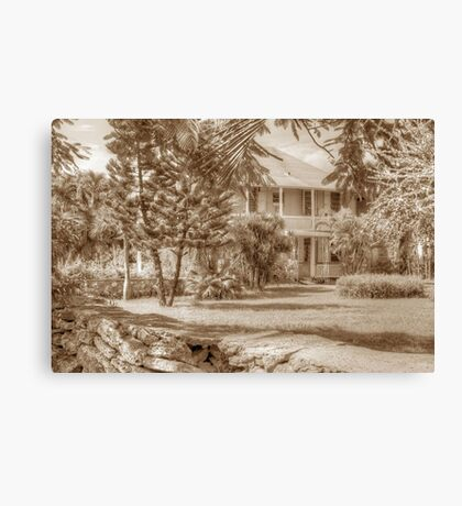 Old Plantation Style Property in Eastern Nassau, The Bahamas Canvas Print