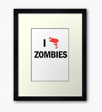 I Heart Zombies  Framed Print