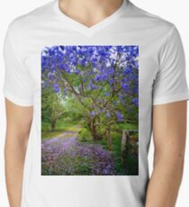Jacaranda Lane Men's V-Neck T-Shirt