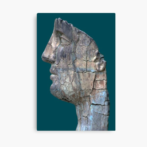 Cracked Head Sculpture, Boboli Gardens, Florence, Italy Canvas Print