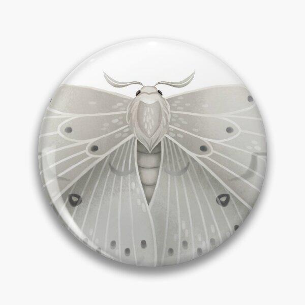 White Moth Pin
