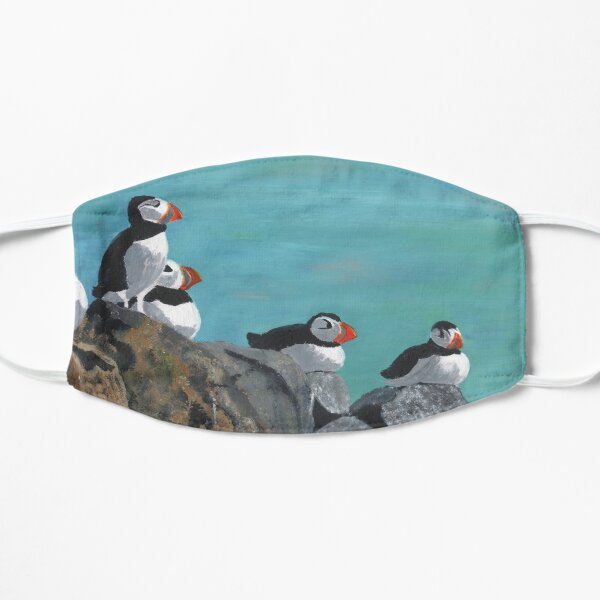 A group of Puffins on Rocks Mask