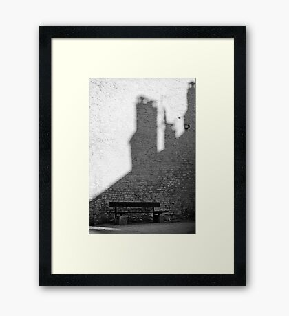 Bench in Perouge Framed Print