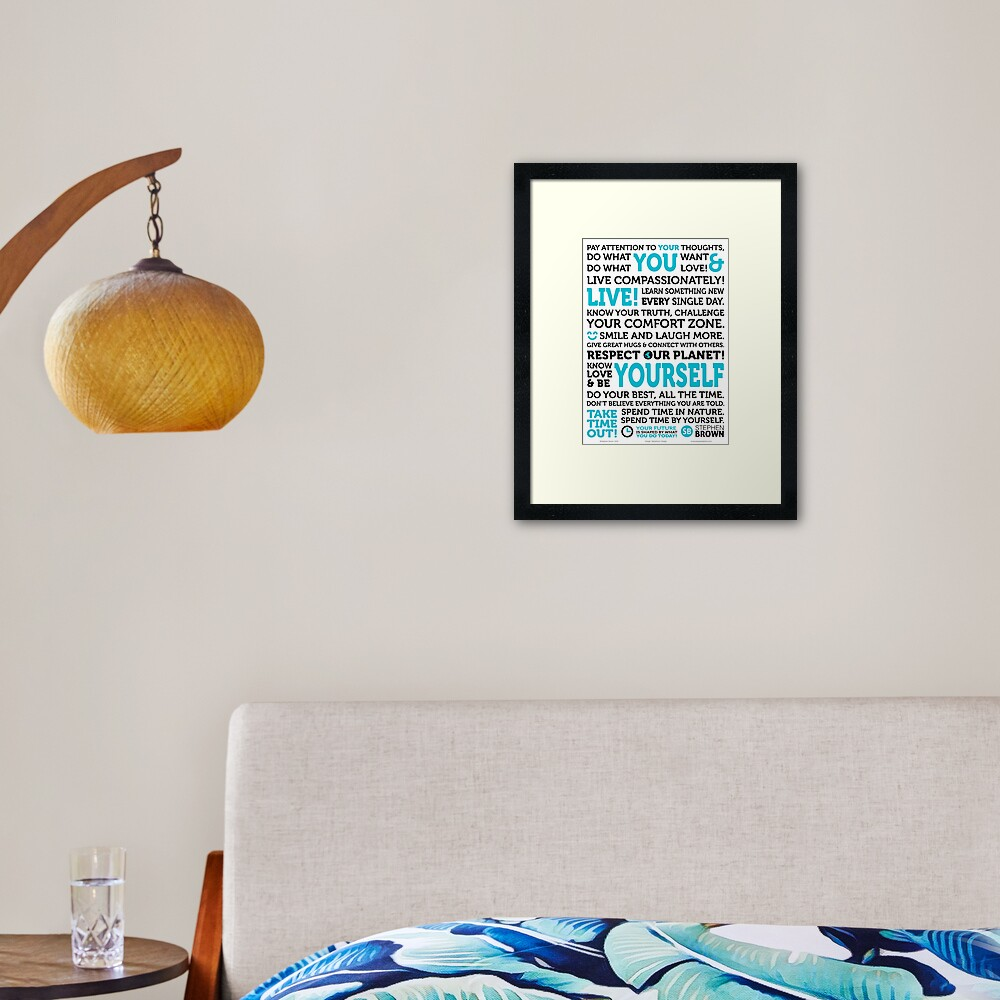 The Manifesto of You Framed Art Print