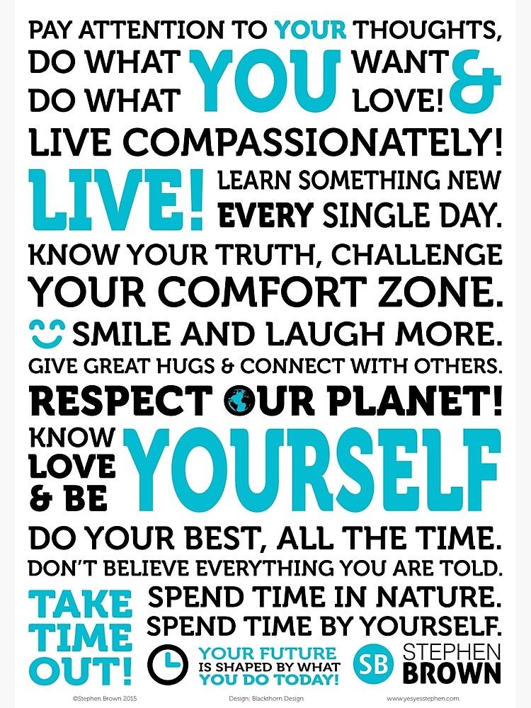 The Manifesto of You by MRCANOE