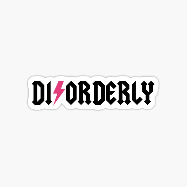 Disorderly Blondes Autism Podcast Sticker