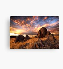 On Fire Mountain Canvas Print