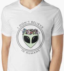 I Don't Believe In Humans Men's V-Neck T-Shirt
