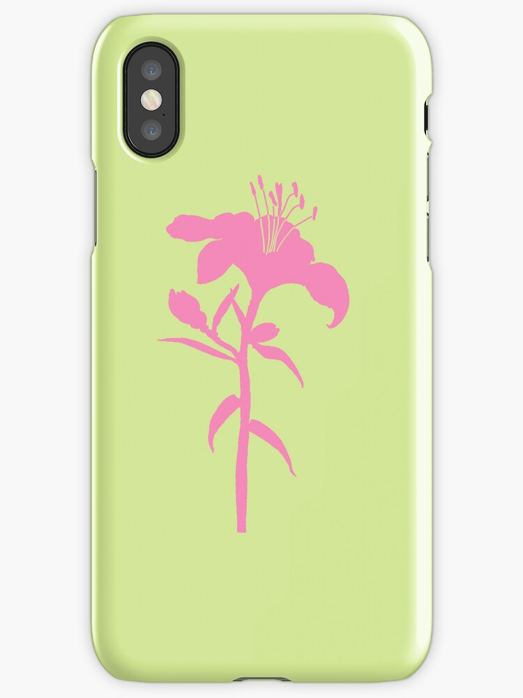 Neon Lily iphone case by Amanda Latchmore