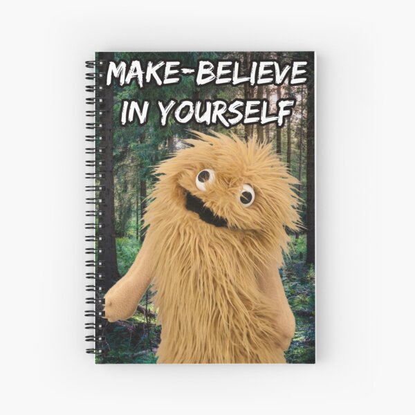 Wump Mucket Puppets Coleman the Sasquatch Make-believe in Yourself Spiral Notebook