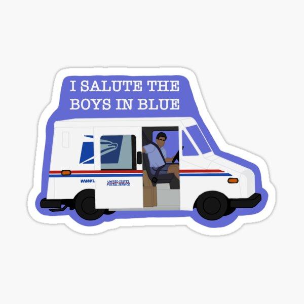 USPS boys in blue Sticker