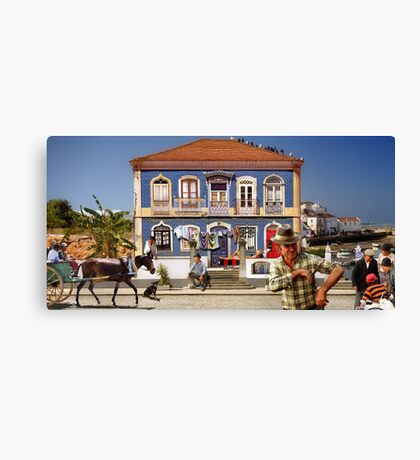 Windows of the Algarve Canvas Print
