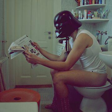 Darth Vader's morning ritual by Chickitaz