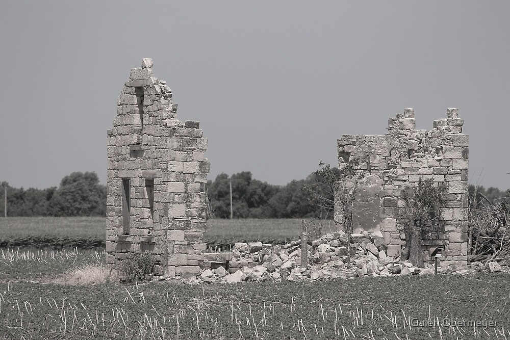 Ruins of Old Limestone Barn by Galen Obermeyer