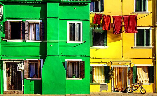 Primary Colours in Burano, Venice by Robyn Carter