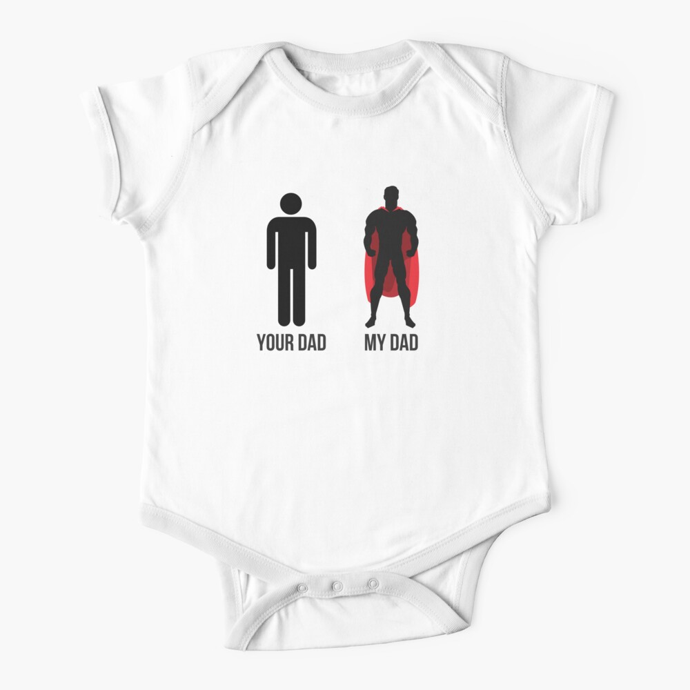 Superhero Funny Father's Day Gift Baby One-Piece