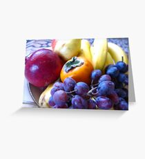 Juicy Fruits Greeting Card