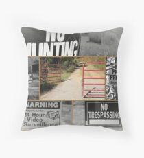 Country Hospitality Throw Pillow